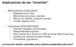 Implicancias de ser invertido