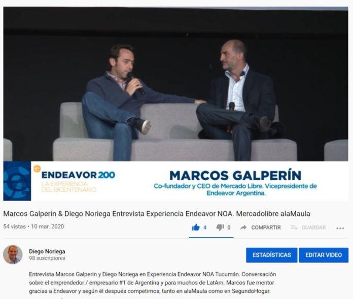 Entrevista Marcos Galperín en Endeavor NOA