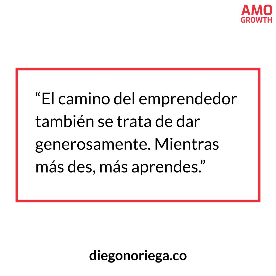 Frase Emprendedora - AMO GROWTH