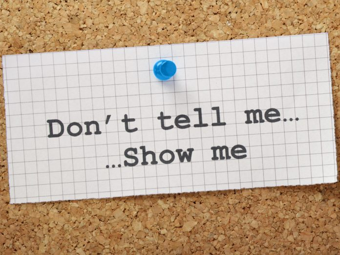 Show don´t tell