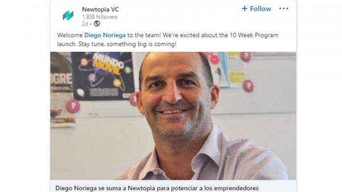 Diego Noriega en Newtopia